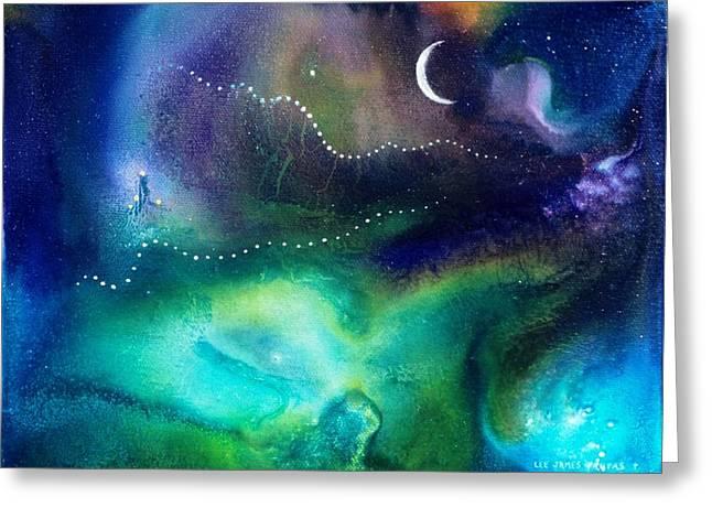 Columbian Moonrise Greeting Card by Lee Pantas