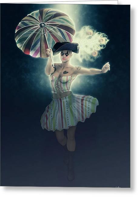 Columbine Funny Girl Greeting Card by Joaquin Abella