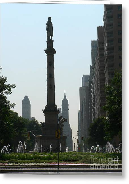 Columbus Circle New York City Greeting Card by Elizabeth Fontaine-Barr