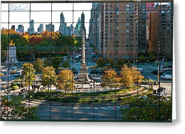 Columbus Circle Greeting Card by S Paul Sahm