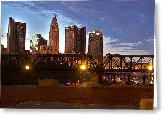 Greeting Card featuring the digital art Columbus Night 1517 by Brian Gryphon