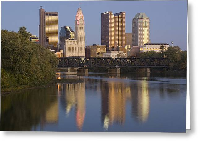 Columbus Ohio Evening Greeting Card