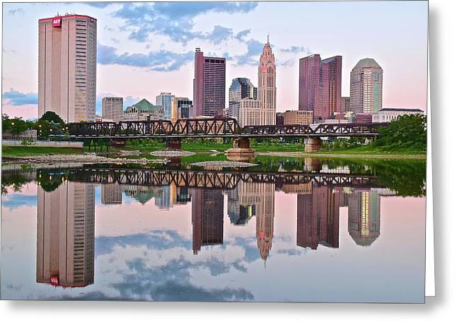Columbus Ohio Reflects Greeting Card by Frozen in Time Fine Art Photography
