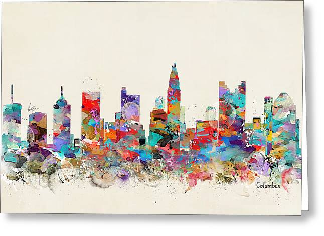 columbus Ohio skyline Greeting Card