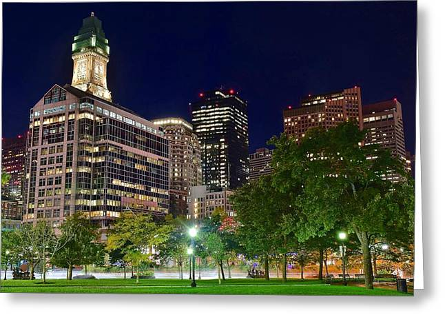 Columbus Park Boston View Greeting Card by Frozen in Time Fine Art Photography