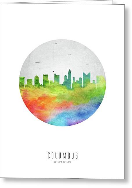 Columbus Skyline Usohco20 Greeting Card