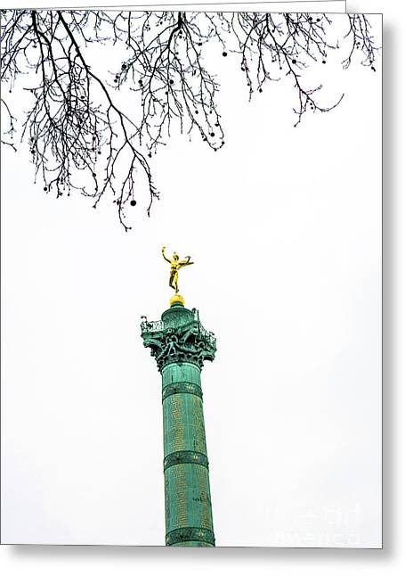 Column Of July. Bastille's Place. Paris. France. Greeting Card by Bernard Jaubert