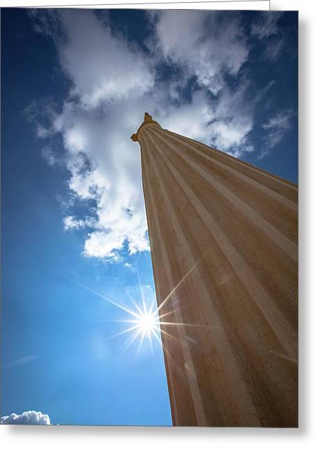Column To Sky Greeting Card