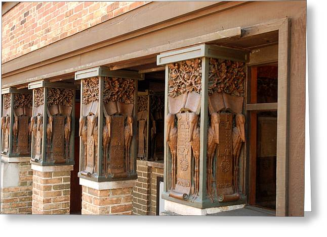 Columns At Frank Lloyd Wright Studio Greeting Card