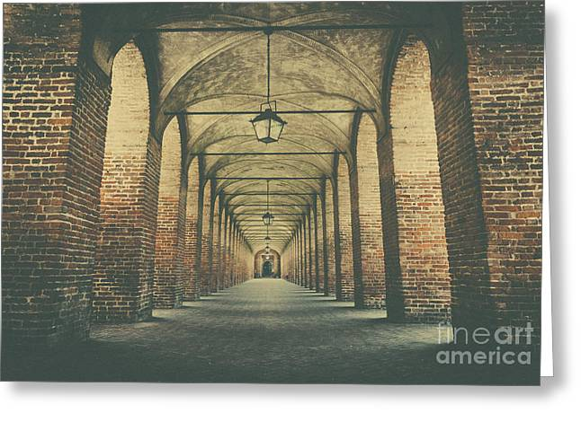 Columns In Sabbionetta, Italy Greeting Card
