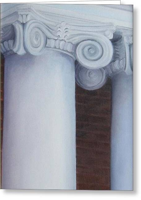 Columns Of Davidson Hall Greeting Card by Mary Rogers