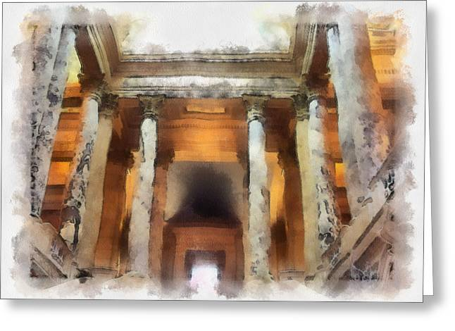 Columns Greeting Card by Paulette B Wright
