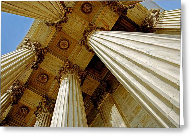 Columns. Supreme Court Greeting Card