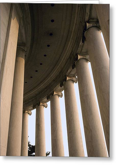 Columns Surround The Jefferson Statue Greeting Card by Rex A. Stucky