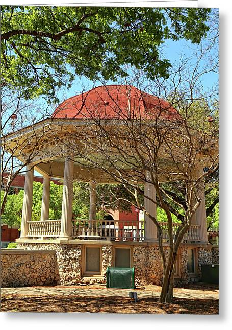 Comal County Gazebo In Main Plaza Greeting Card