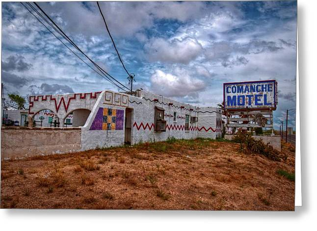 Comanche Motel Greeting Card