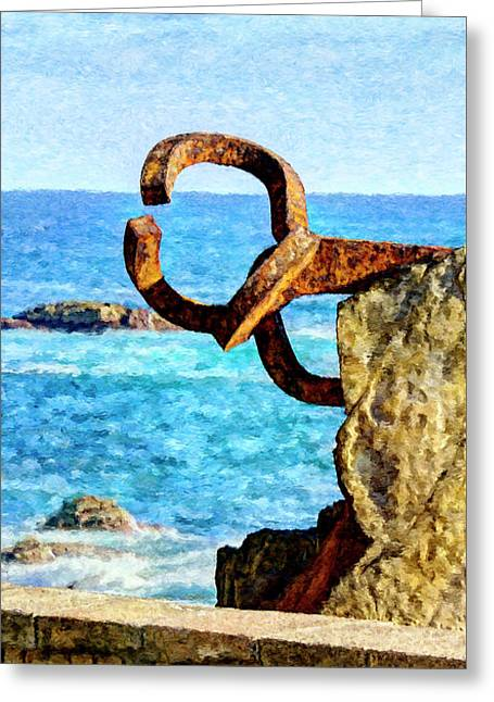Comb Of The Wind By Chillida 04 - Painting Greeting Card