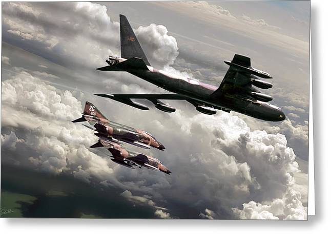 Combat Air Patrol Greeting Card by Peter Chilelli