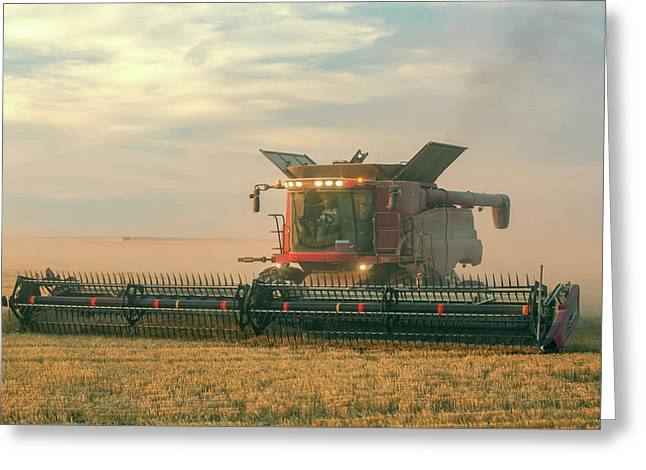 Combine In Dust Greeting Card by Todd Klassy