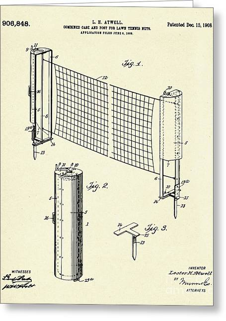 Combined Case And Post For Lawn-tennis Nets-1908 Greeting Card