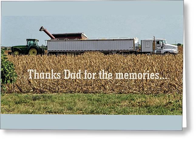Combining Corn Greeting Card