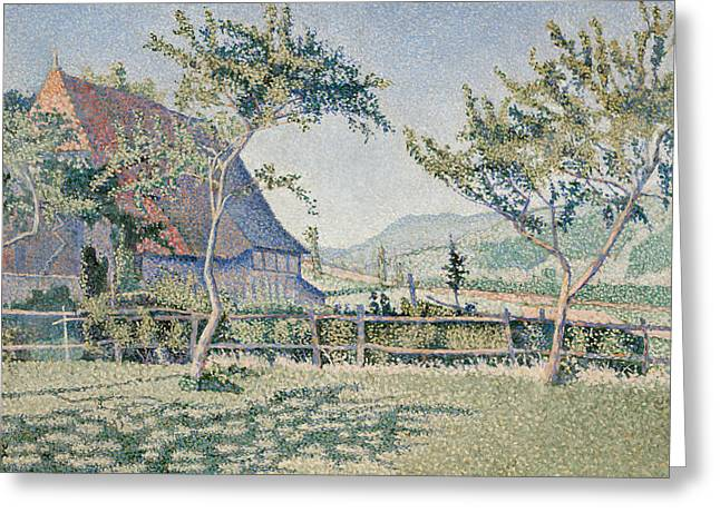 Comblat-le-chateau, The Meadow Greeting Card by Paul Signac
