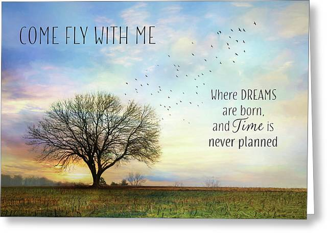 Greeting Card featuring the photograph Come Fly With Me by Lori Deiter