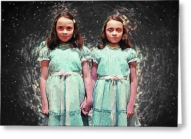 Come Play With Us - The Shining Twins Greeting Card