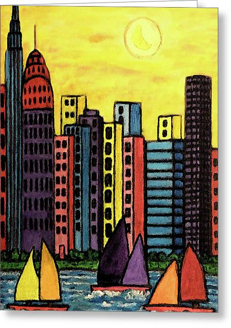 Come Sail Away Greeting Card by Monica Engeler