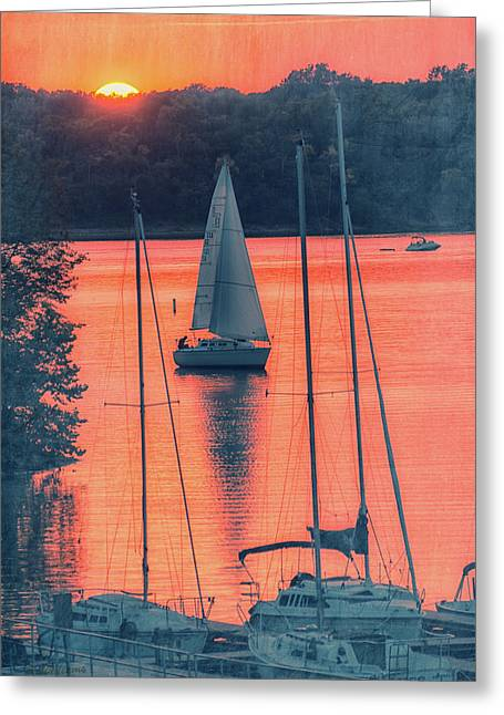 Come Sail Away Greeting Card by Pamela Williams