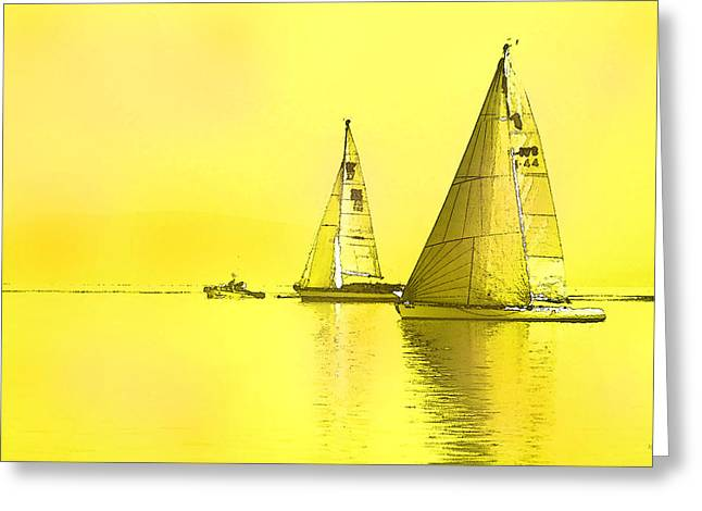 Greeting Card featuring the digital art Come Sail Away by Shelli Fitzpatrick