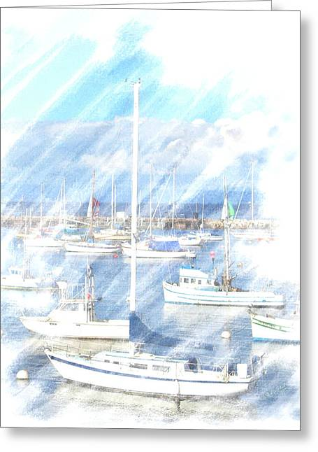 Come Sail With Me Greeting Card by Barbara MacPhail