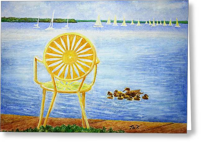 Come, Sit Here Greeting Card by Thomas Kuchenbecker