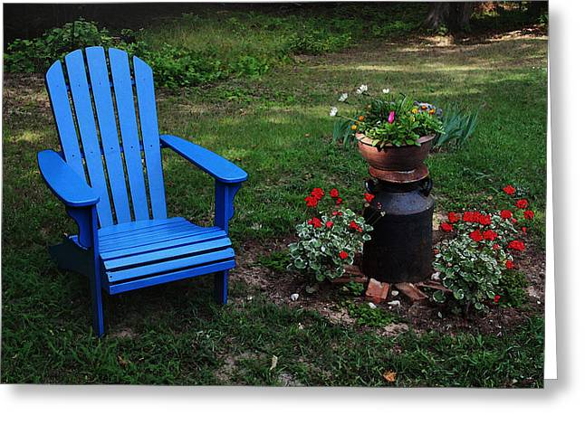 Greeting Card featuring the photograph Come Sit  by Joanne Coyle