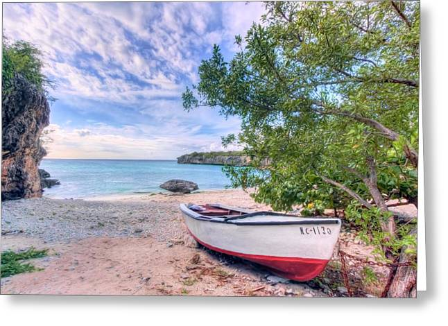 Tropical Photographs Paintings Greeting Cards - Come to Curacao Greeting Card by Nadia Sanowar