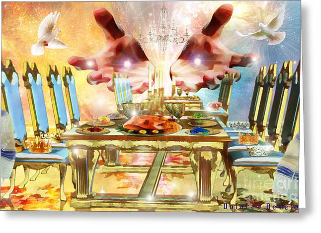 Come To The Banquet Table Greeting Card by Dolores Develde