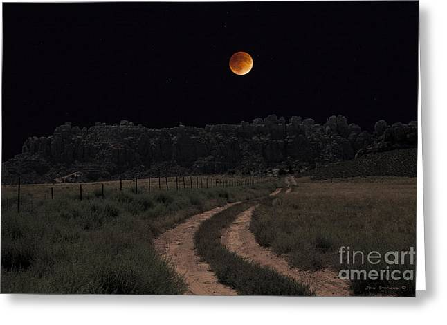 Come To The Moon Greeting Card by John Stephens