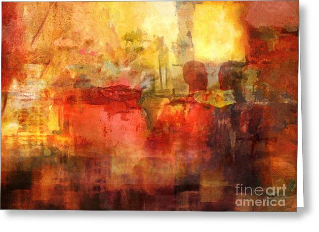 Abstract Artwork Greeting Cards - Come Together Greeting Card by Lutz Baar