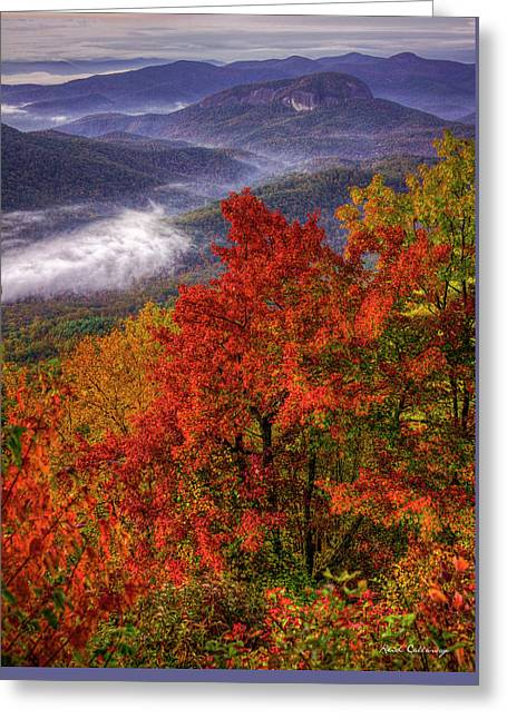 Come With Me Looking Glass Rock Blue Ridge Mountain Parkway Art Greeting Card by Reid Callaway
