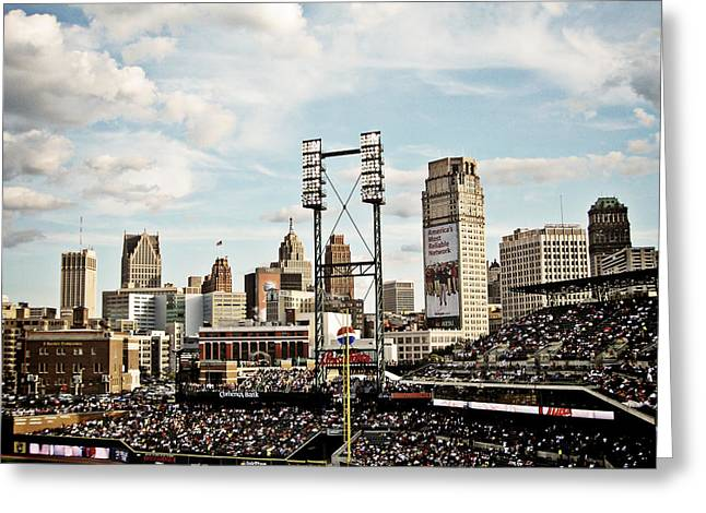 Comerica Park Detroit Greeting Card by Alanna Pfeffer