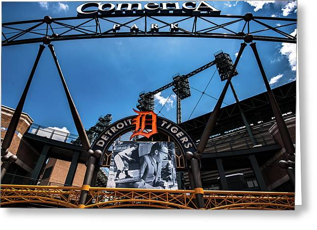 Greeting Card featuring the photograph Comerica Park by Onyonet  Photo Studios
