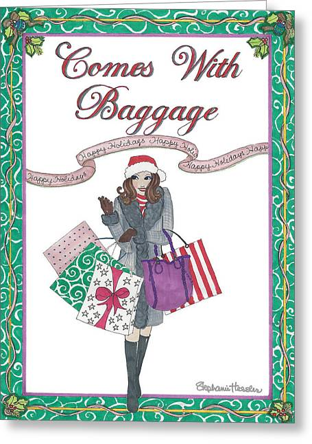 Comes With Baggage - Holiday Greeting Card
