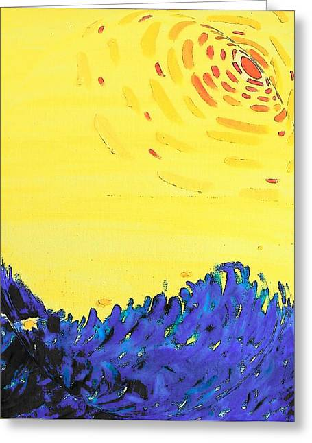 Greeting Card featuring the painting Comet by Lenore Senior