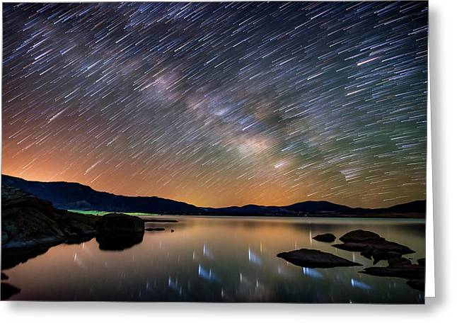 Comet Storm - Colorado Greeting Card by Darren White