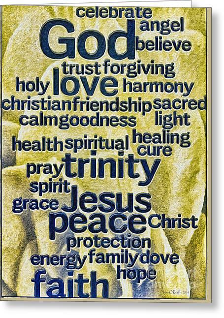 Comfort Words Greeting Card by Jean OKeeffe Macro Abundance Art