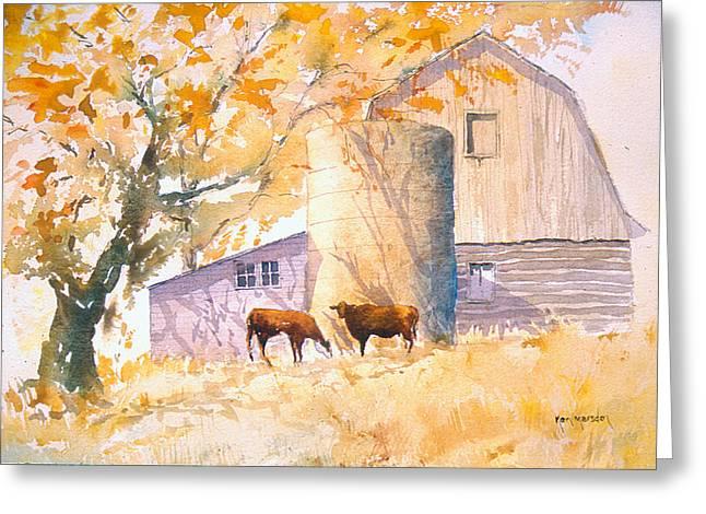 Comfortable-autumn Greeting Card