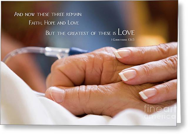 Comforting Hand Of Love Greeting Card