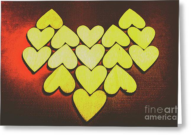 Comic Art Hearts Greeting Card