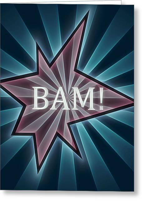 Comic Book Bam Greeting Card by Dan Sproul