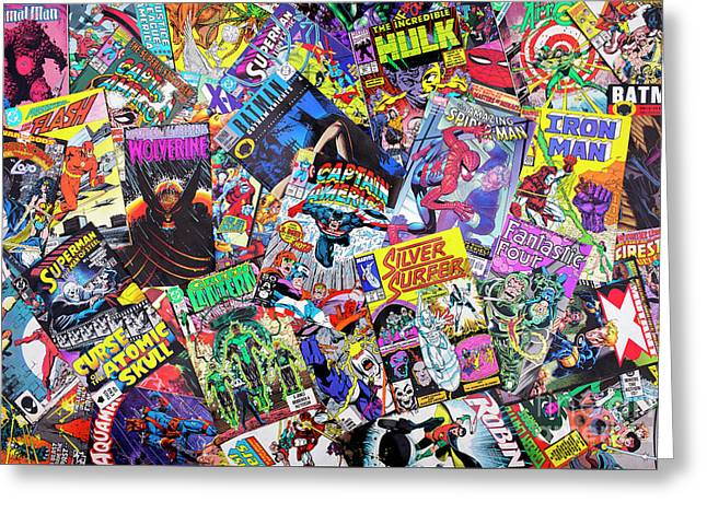 Comic Books Greeting Card by Tim Gainey